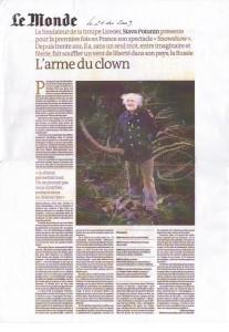 Le monde portrait 21/12/2009