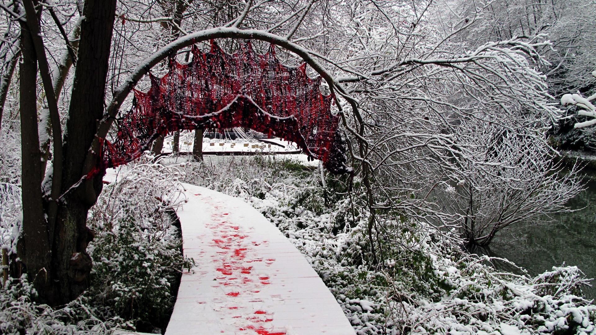 Le moulin jaune le jardin en hiver for Jardin anglais en hiver